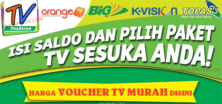 voucher tv prabayar murah